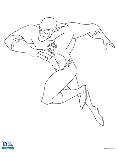 flash coloring pages - flash coloring page 4