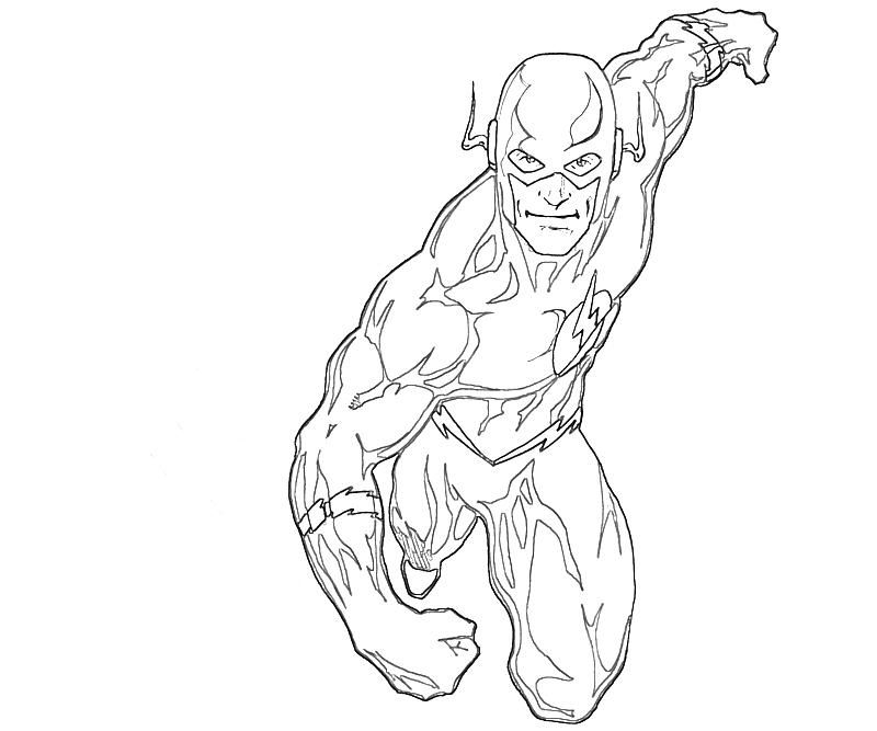 flash coloring pages - flash coloring pages