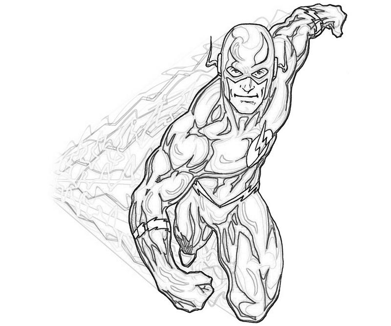 flash coloring pages - the flash superhero coloring pages