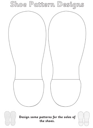 flip flop coloring pages - the elves and the shoemaker shoe pattern design