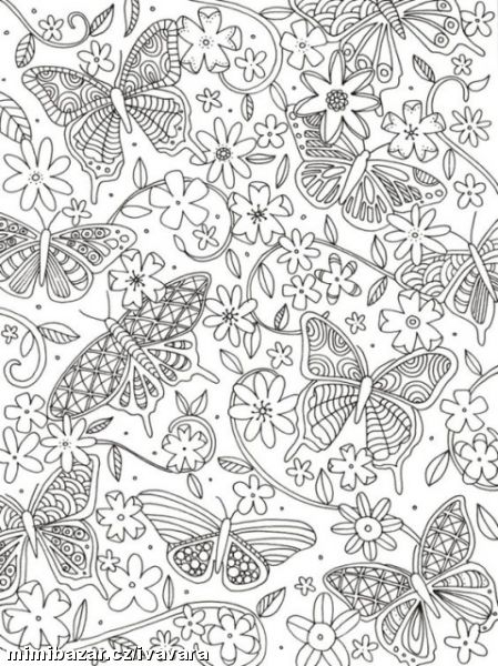 floral coloring pages -