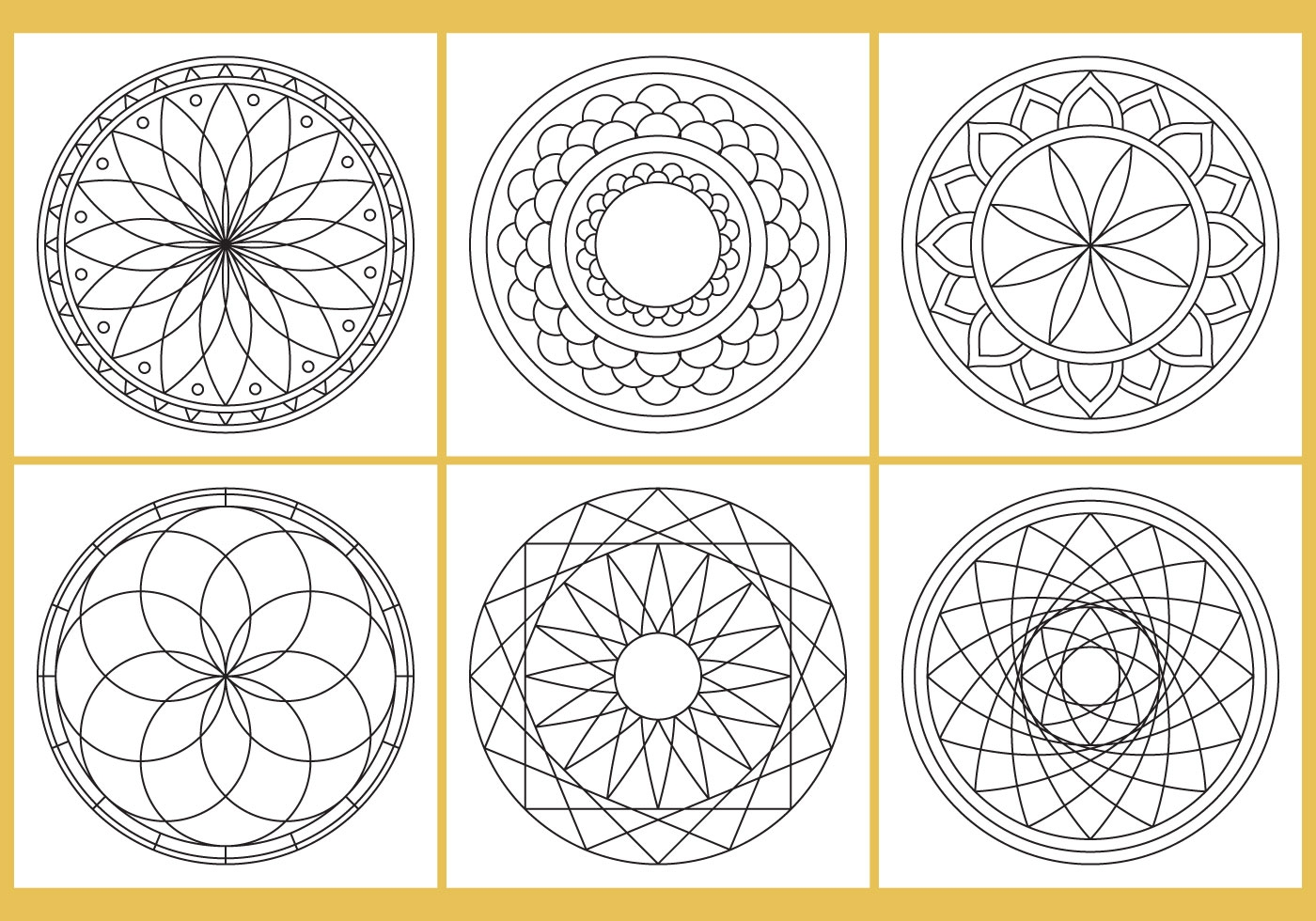 floral coloring pages - coloring mandala page vectors