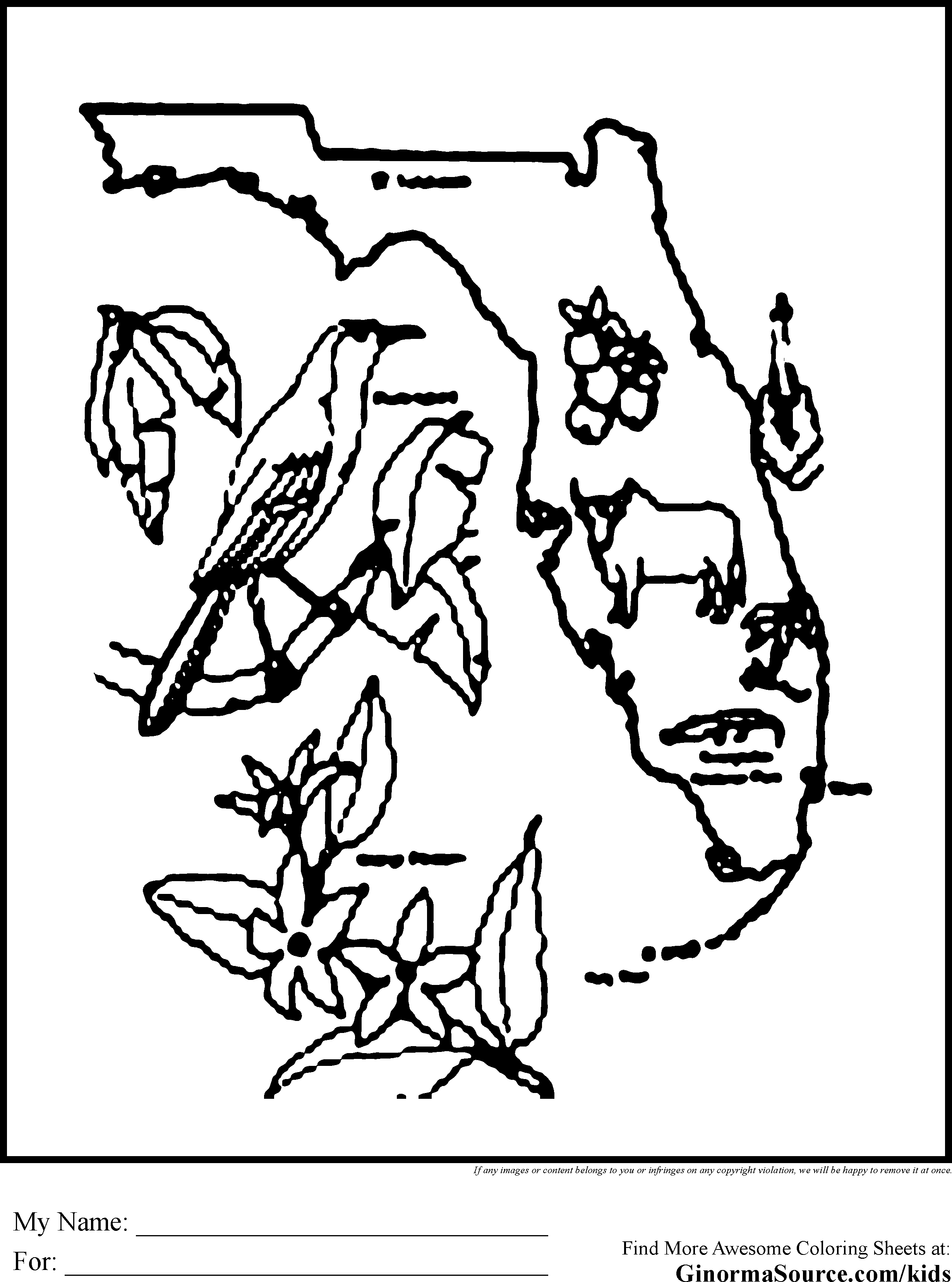florida coloring page -