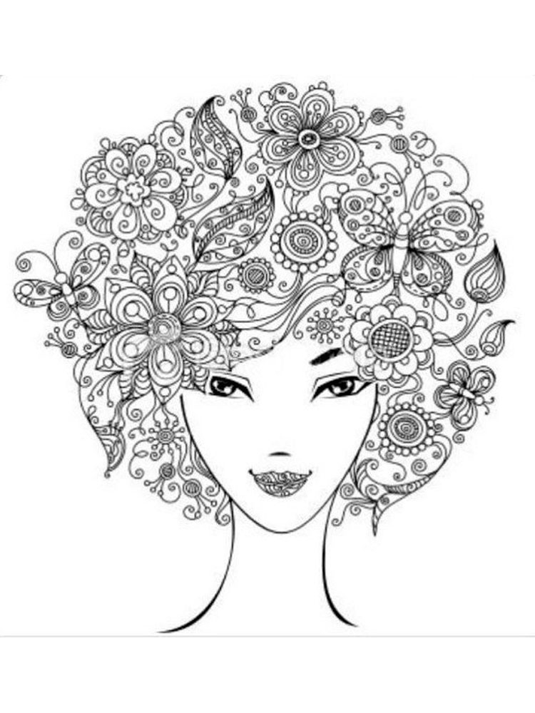 flower adult coloring pages - anti stress coloring pages