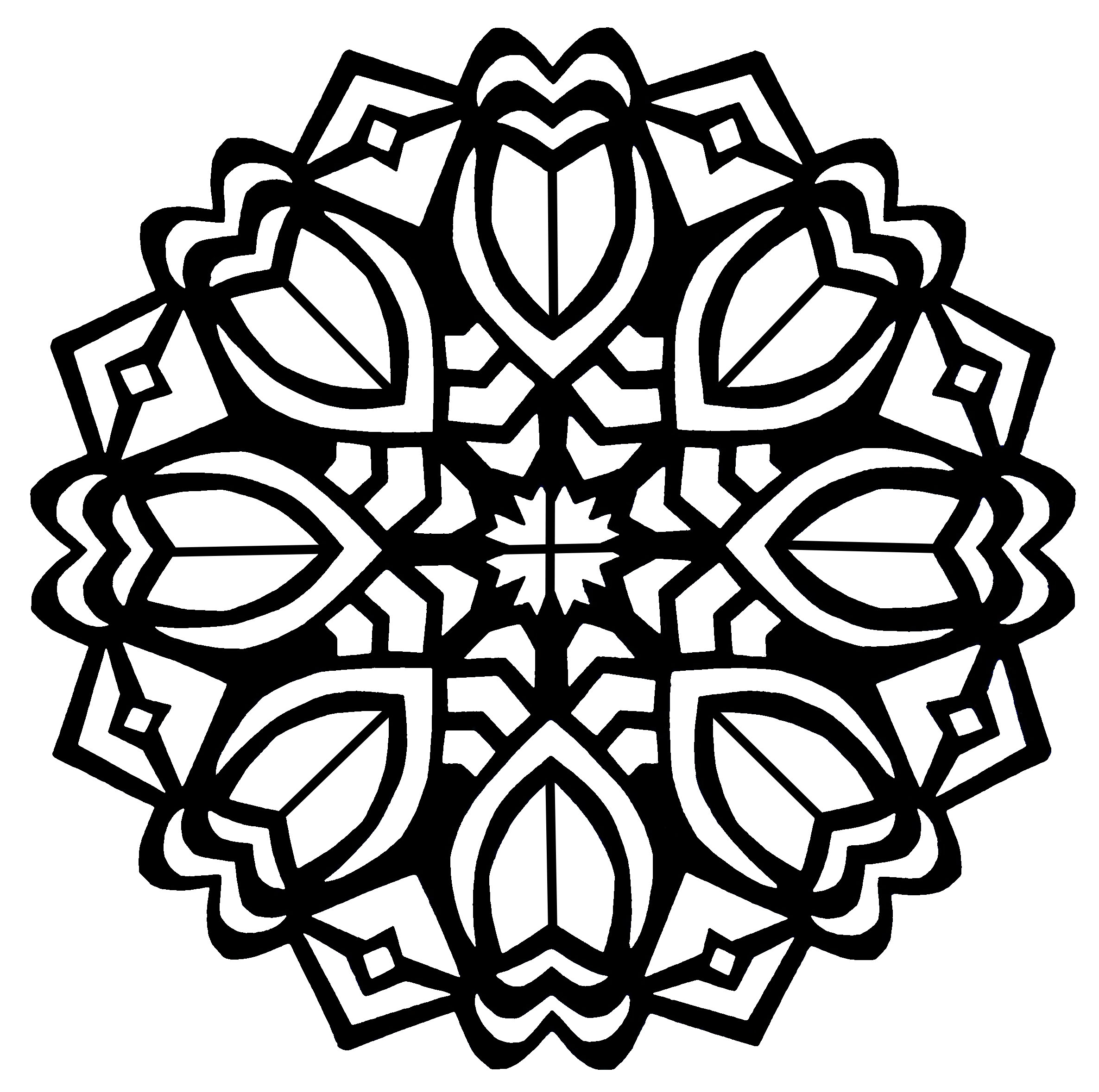 flower adult coloring pages - flower mandala coloring pages