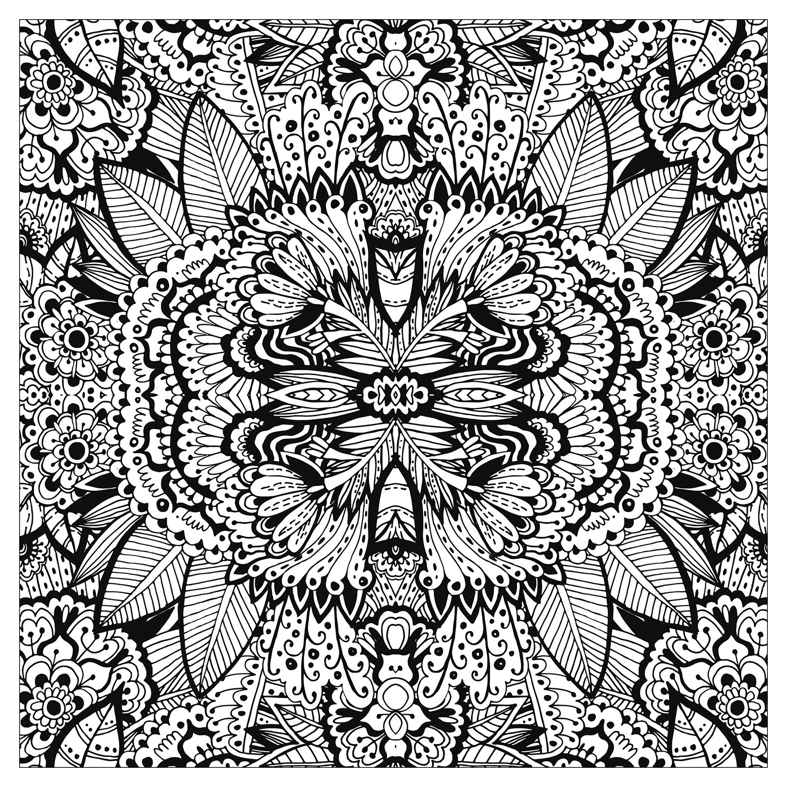 flower adult coloring pages - image=fleurs et ve ation coloring adult plex flower carpet squared by valeriia lelanina 1