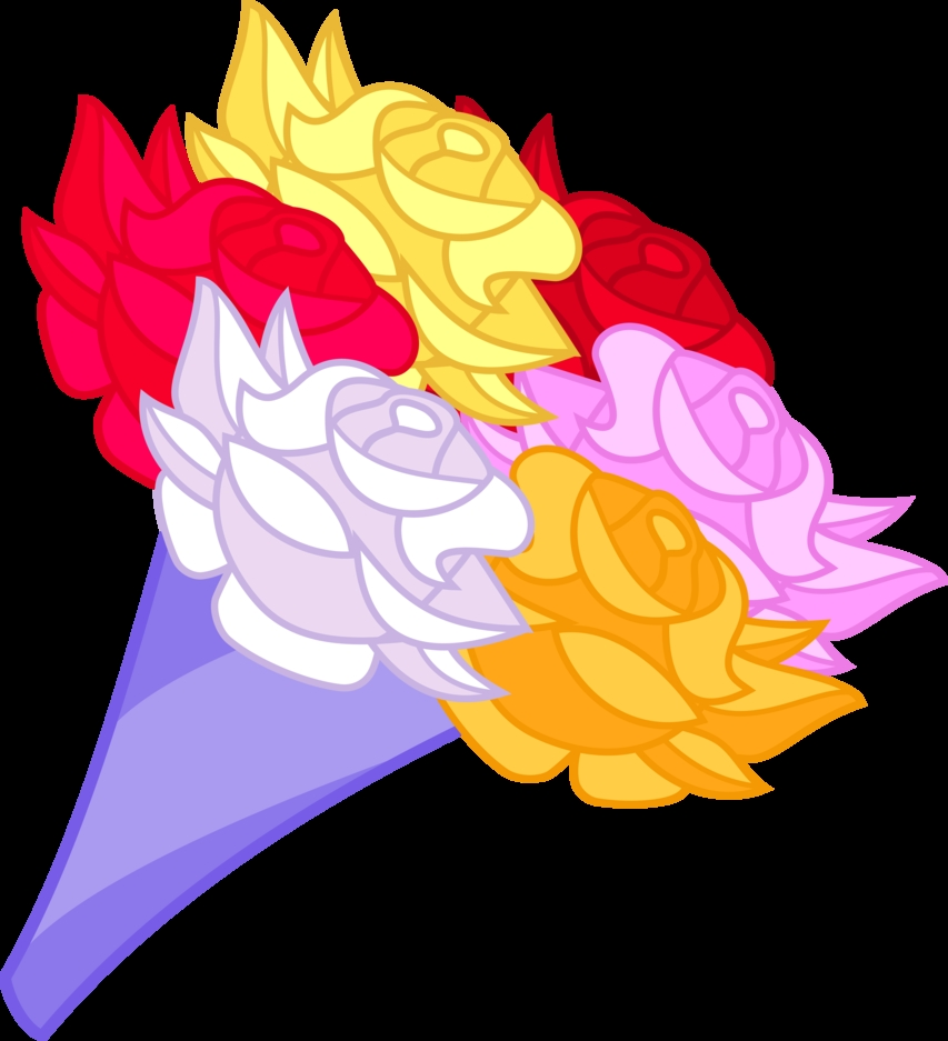 flower bouquet coloring pages - cartoon bouquet of flowers