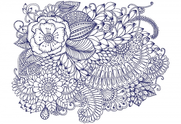flower bouquet coloring pages - 「手殘女」也可以畫! 禪繞畫紓壓 so easy