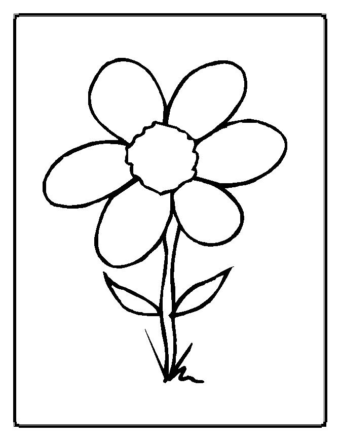 Flower Coloring Pages - Flower Coloring Pages