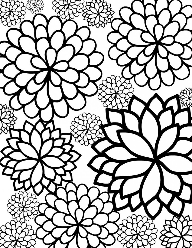flower coloring pages - free printable flower coloring pages kids