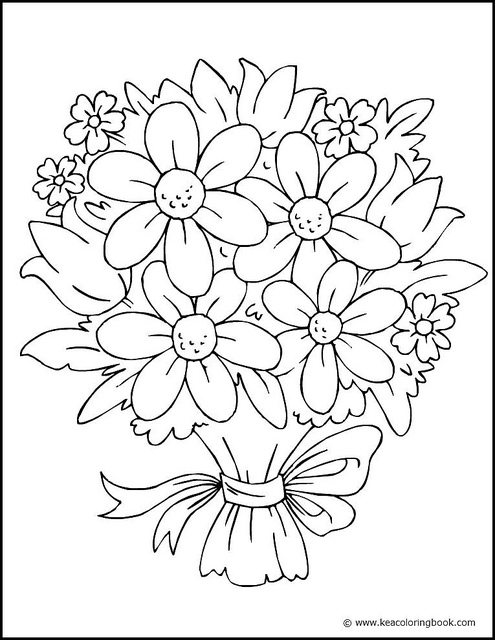 flower coloring pages - pretty flower coloring pages