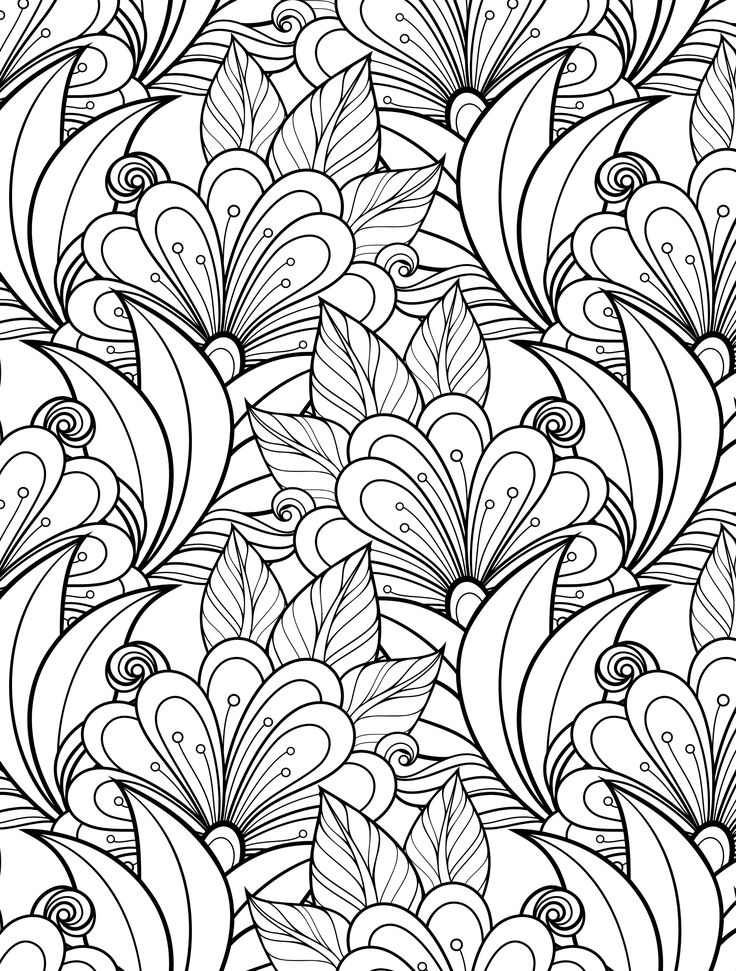 flower coloring pages for adults - printable adult coloring pages
