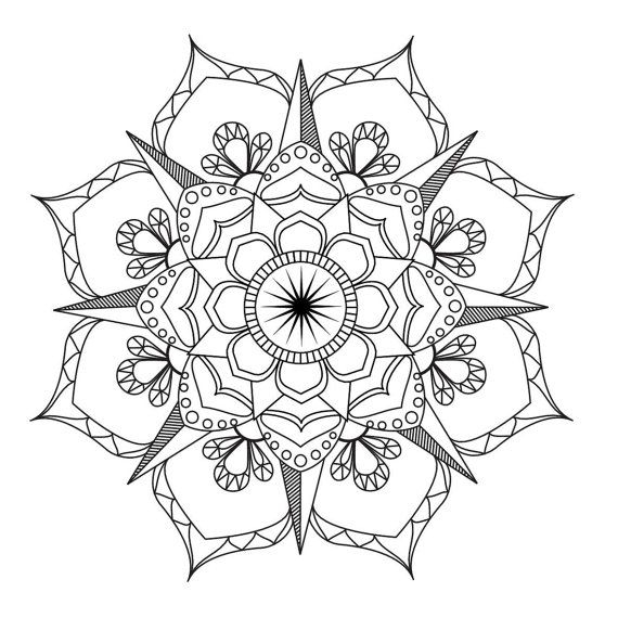 flower mandala coloring pages - mandala coloring pages