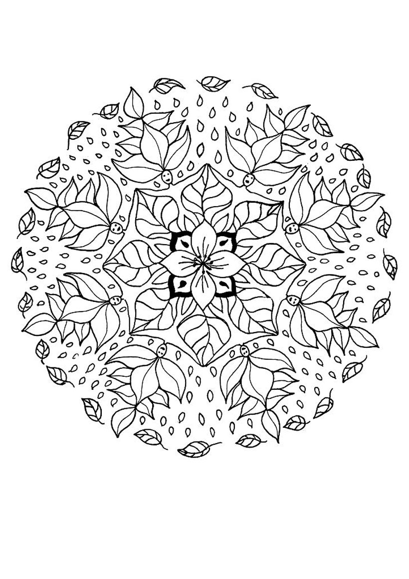flower mandala coloring pages - coloring