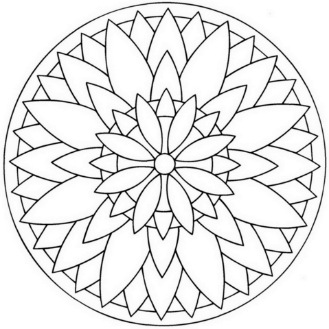 flower mandala coloring pages - flower mandala 1