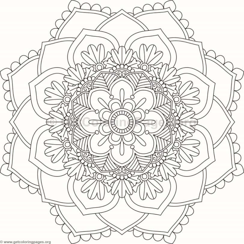 flower mandala coloring pages - 9304