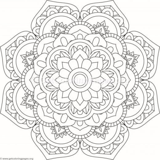flower mandala coloring pages - 9373