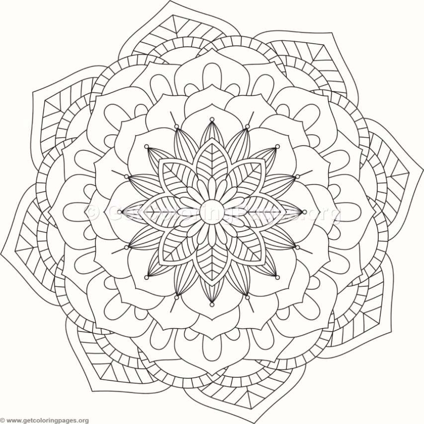flower mandala coloring pages -