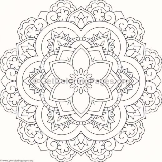 flower mandala coloring pages - 380