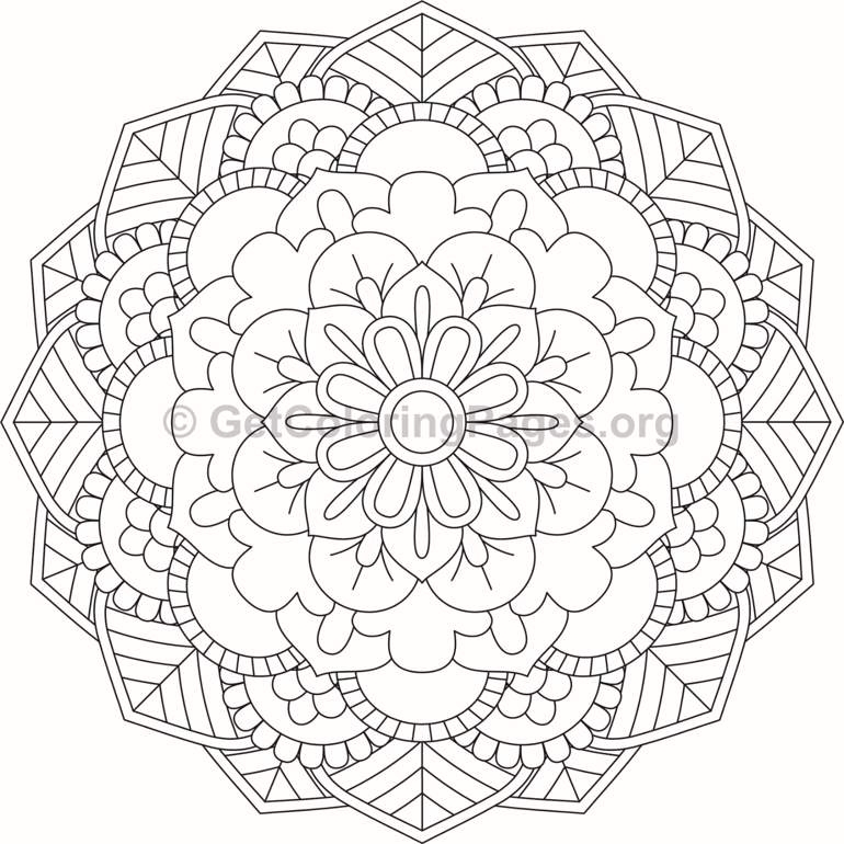 flower mandala coloring pages - 388