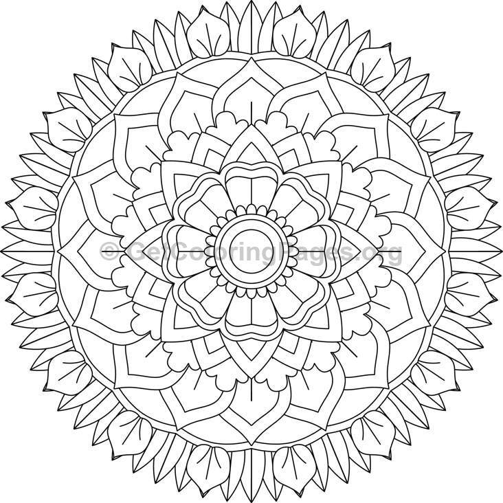 flower mandala coloring pages - 32