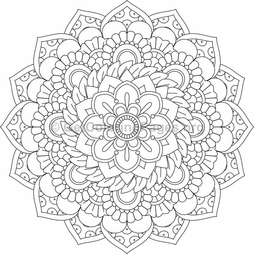 flower mandala coloring pages - 411