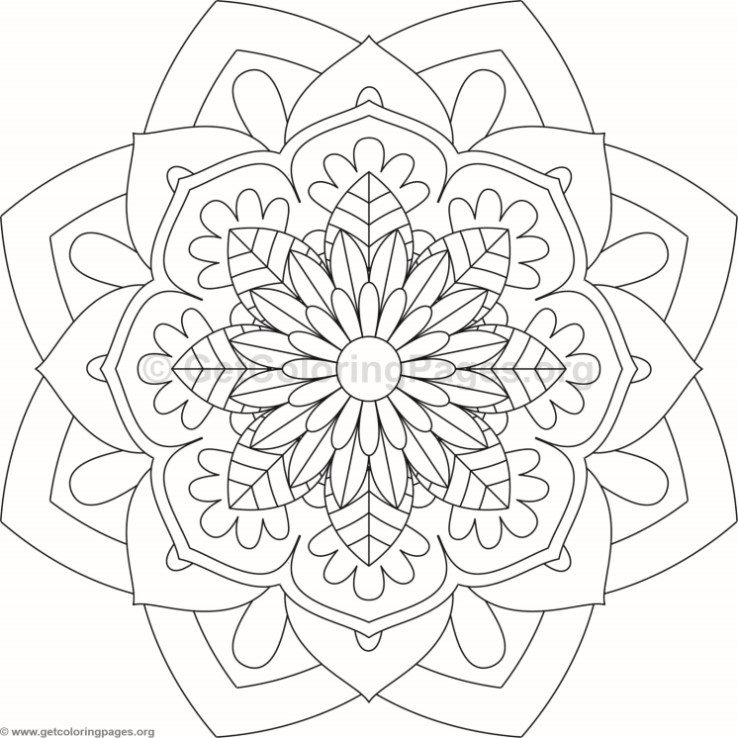 flower mandala coloring pages - 8737
