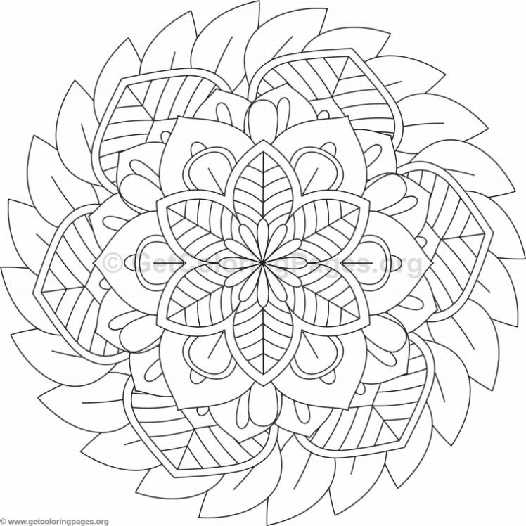 flower mandala coloring pages - 8888