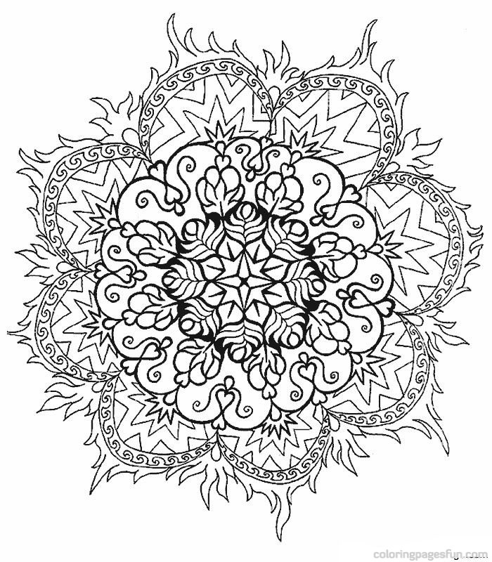 flower mandala coloring pages - flower mandala coloring pages