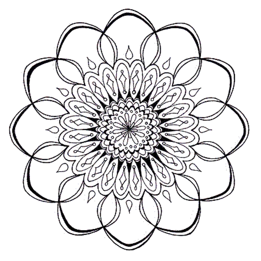 flower mandala coloring pages - free coloring media
