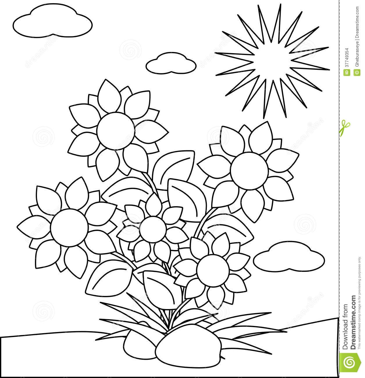 flower pot coloring page - stock images coloring flowers image representing some cartoon version project thought to be colored children years image