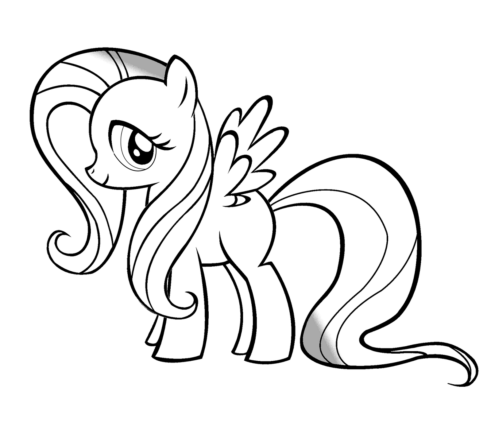 fluttershy coloring pages - fluttershy