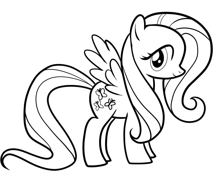 fluttershy coloring pages - r=princess fluttershy