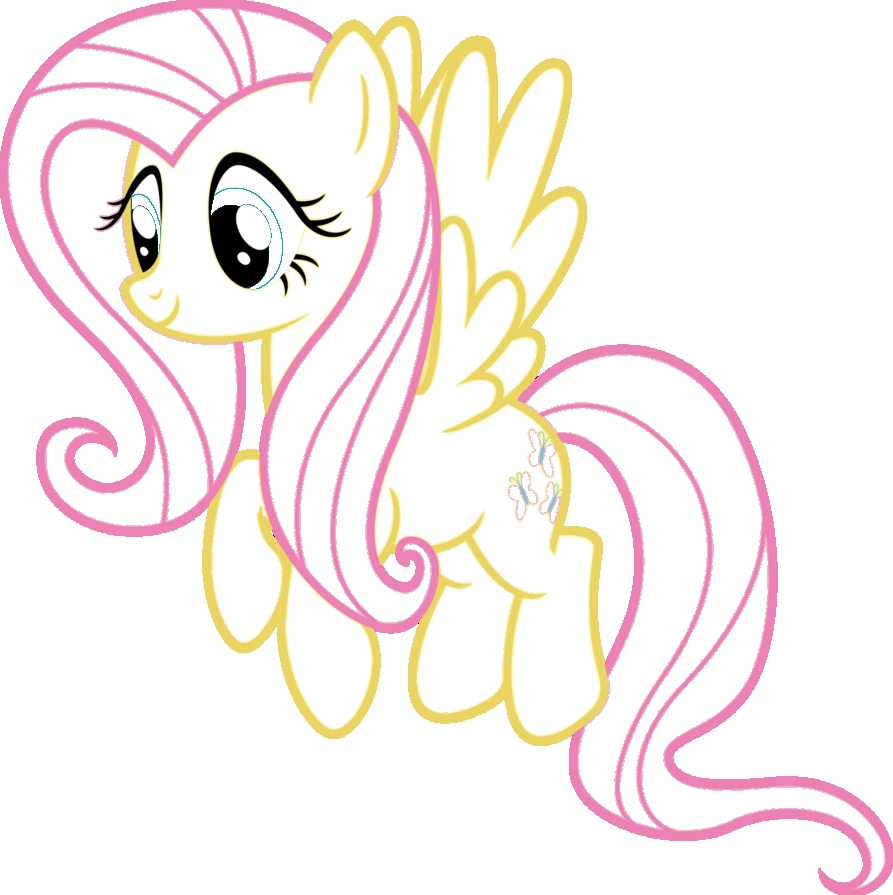 fluttershy coloring pages - fluttershy my little pony coloring pages