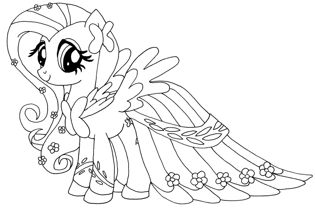 Fluttershy Coloring Pages - My Little Pony Fluttershy Coloring Pages Coloring Pages