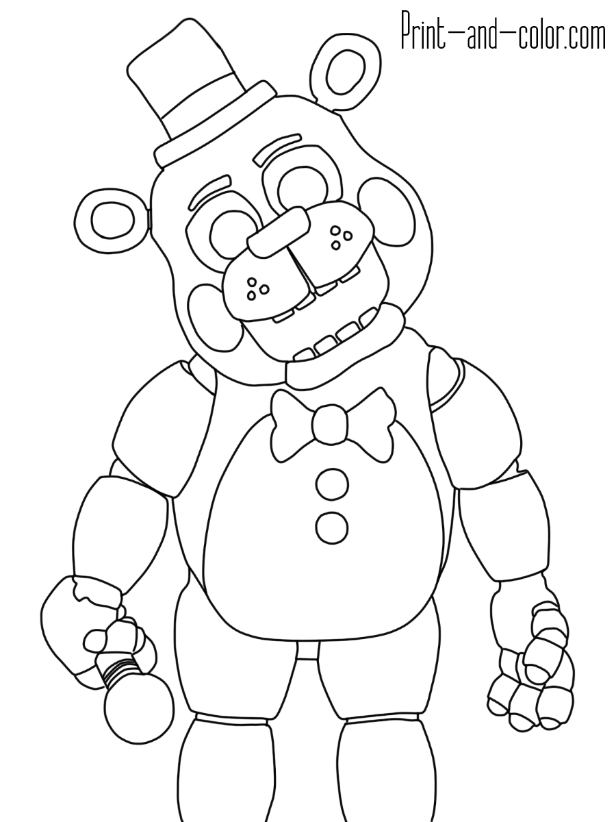 21 Fnaf Coloring Pages Printable | FREE COLORING PAGES - Part 3