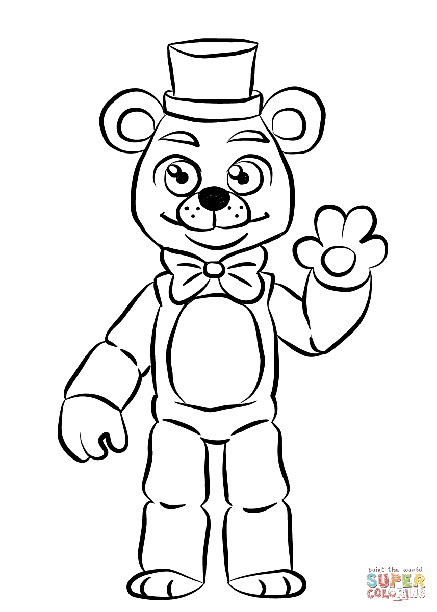 Fnaf Coloring Pages - Fnaf Coloring Pages Line Coloring Page