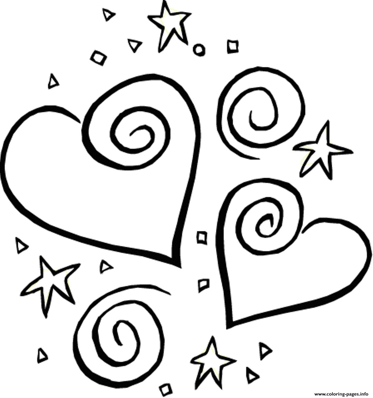 fnaf coloring pages printable - stars and heart valentine 316d printable coloring pages book 7171
