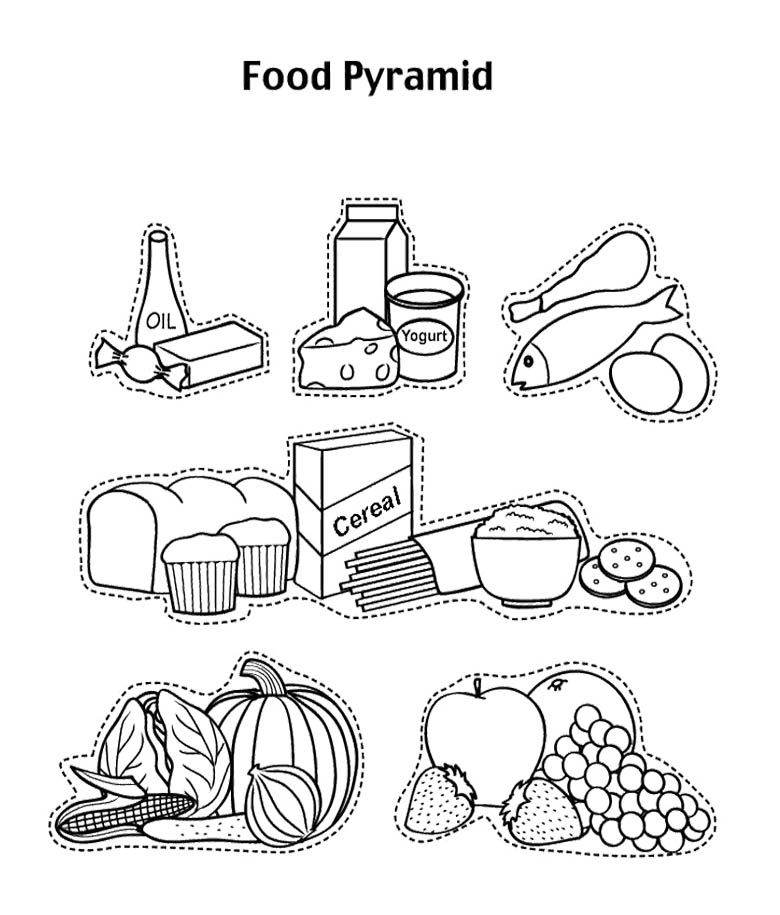 food pyramid coloring page - food pyramid coloring pages