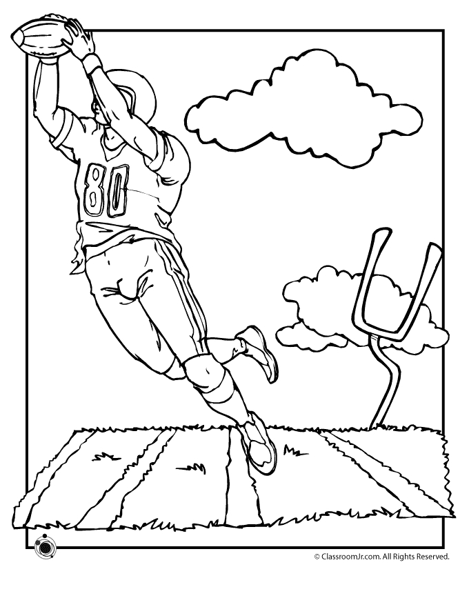 football coloring pages - free printable football coloring pages