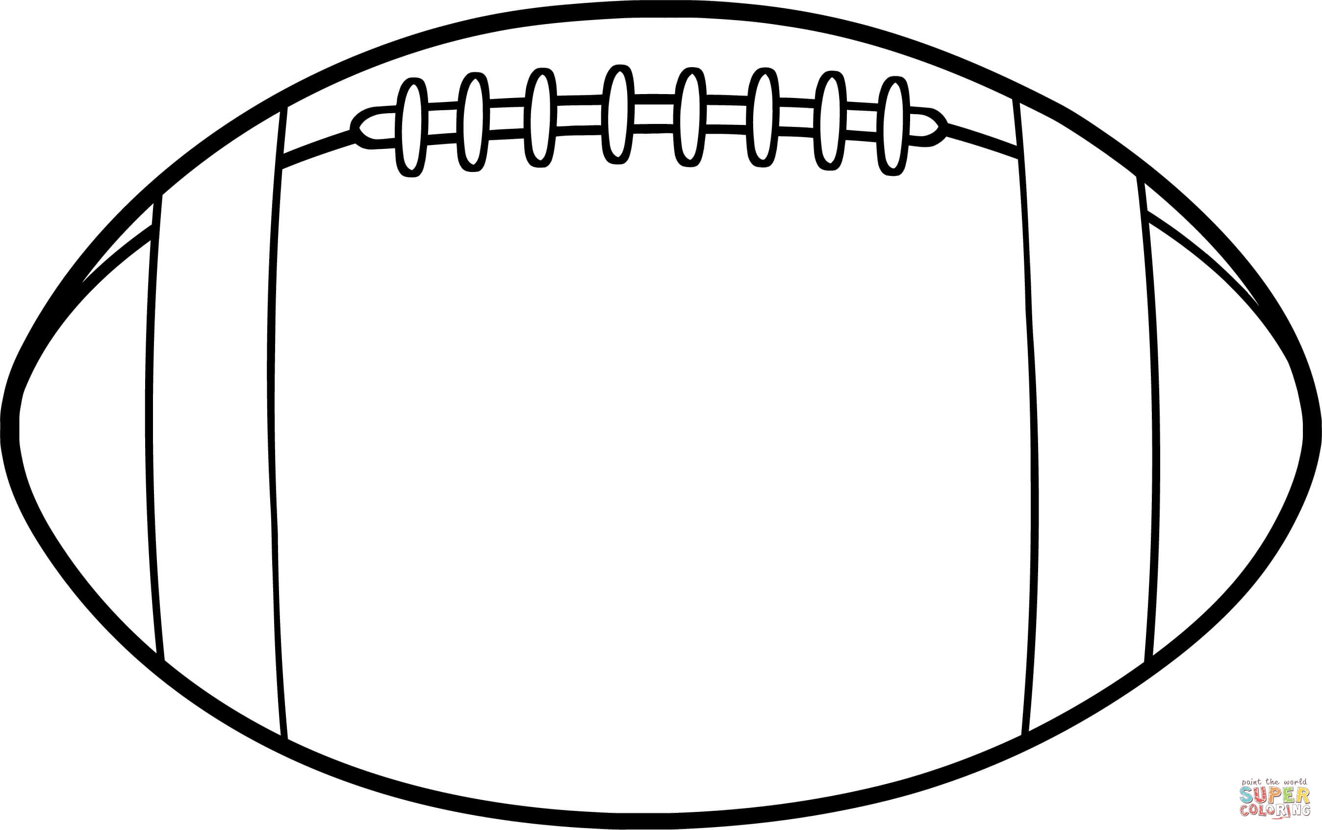 football coloring pages printable - american football ball