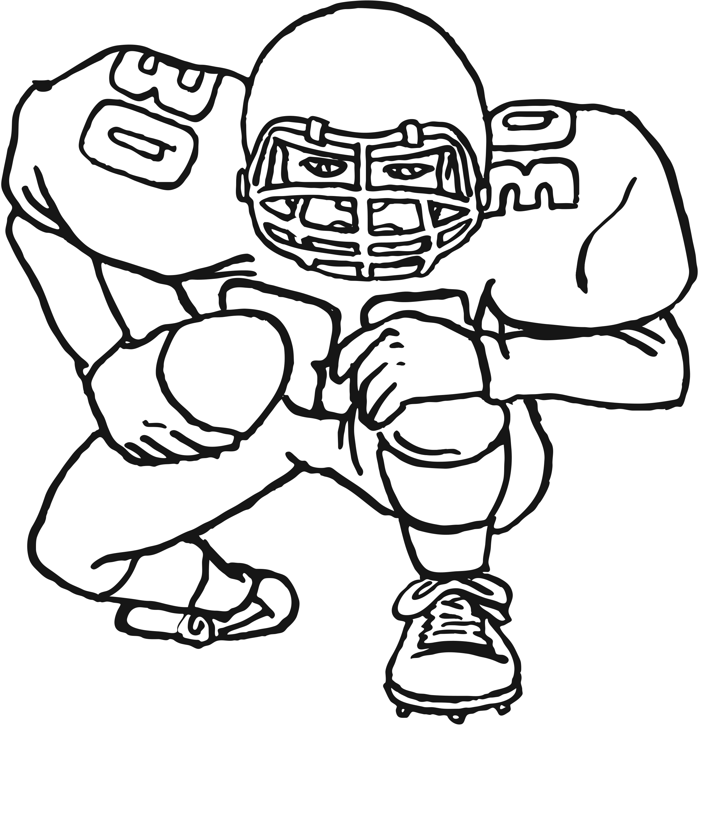 football coloring pages printable - free printable football coloring pages kids