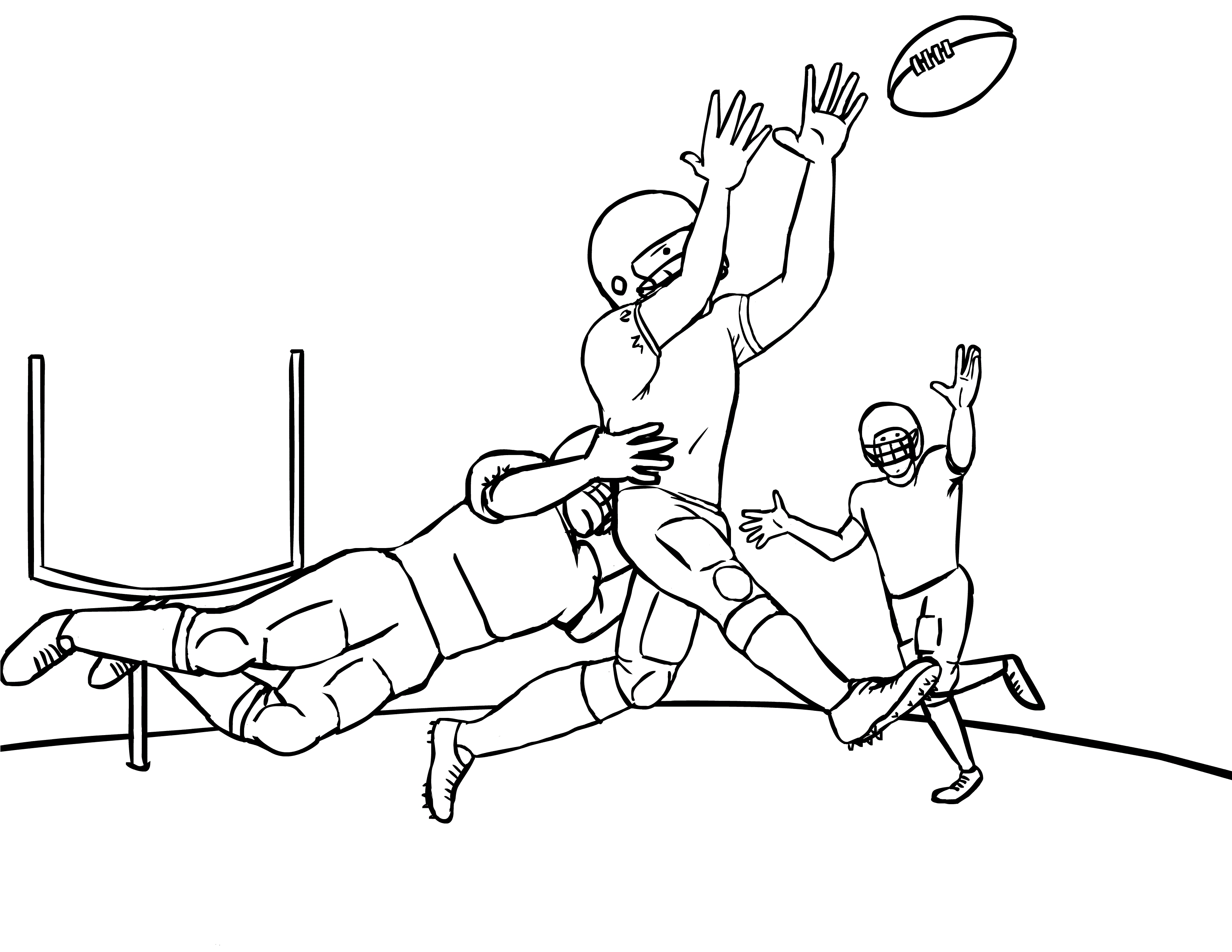 Football Coloring Pages Printable - Free Printable Football Coloring Pages for Kids Best
