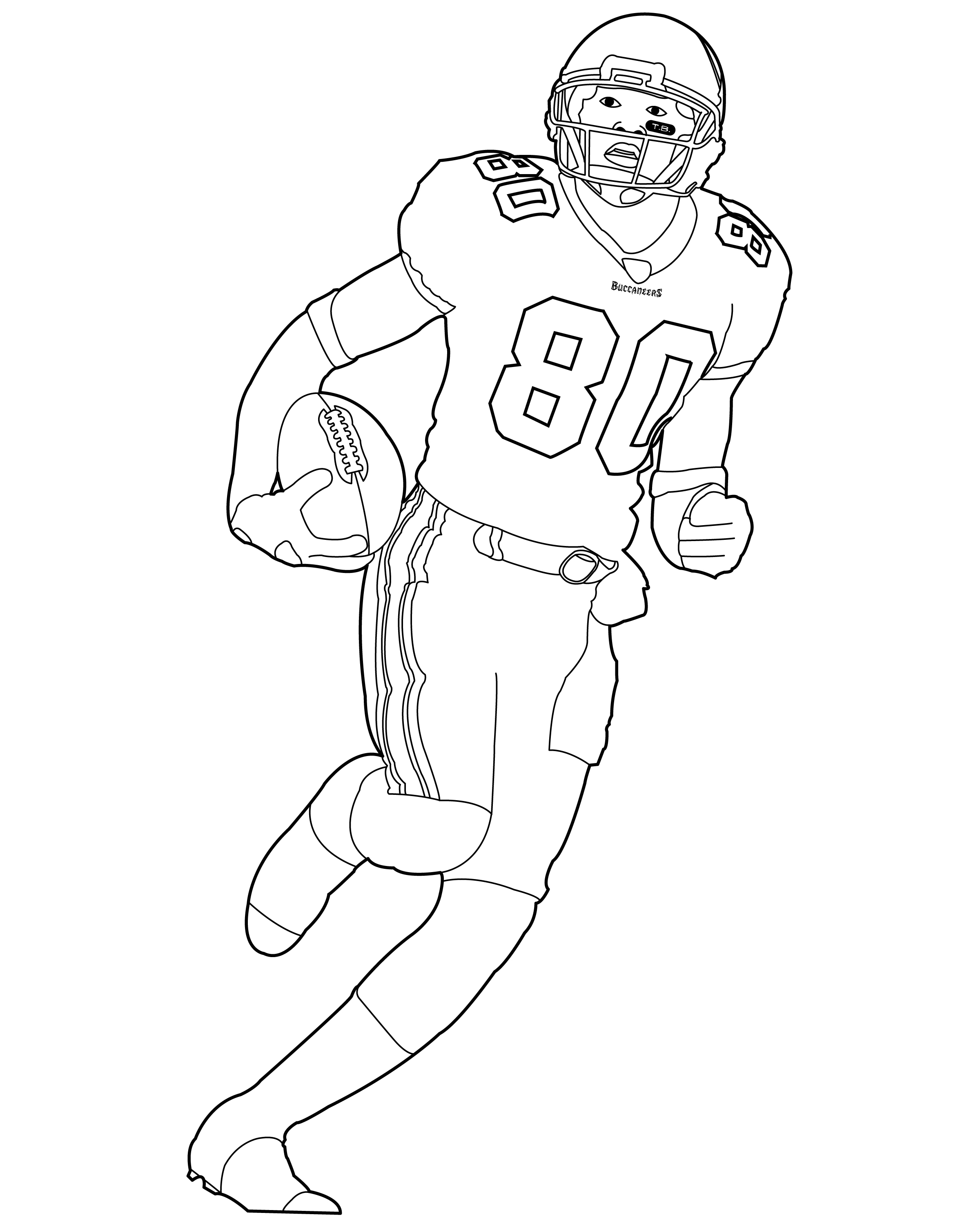 football coloring pages printable - 3