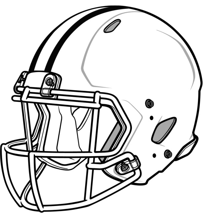 football helmet coloring page - football helmets coloring pages