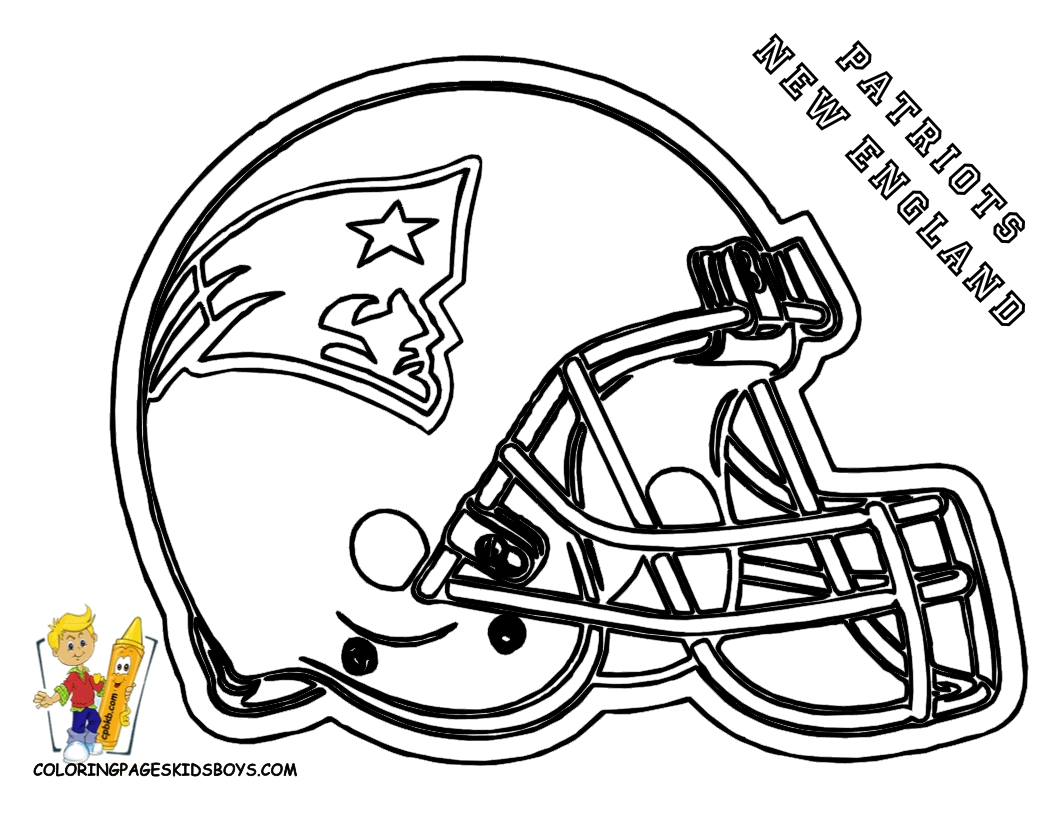 football helmet coloring page - patriots coloring pages