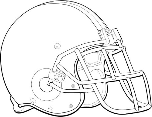 football helmet coloring page -