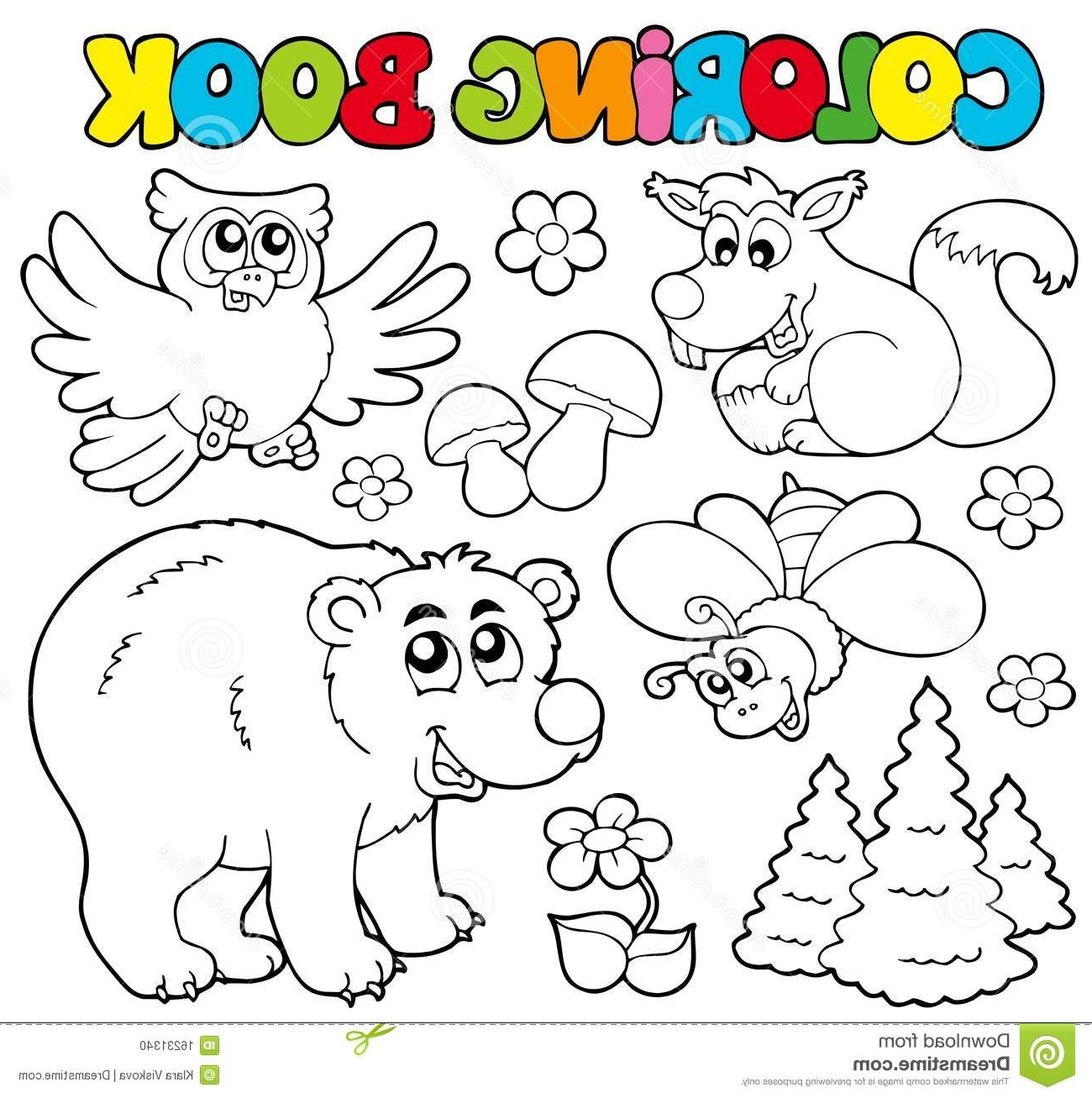 Forest Animals Coloring Pages - Coloring Pages forest Animals Printable Kids Coloring