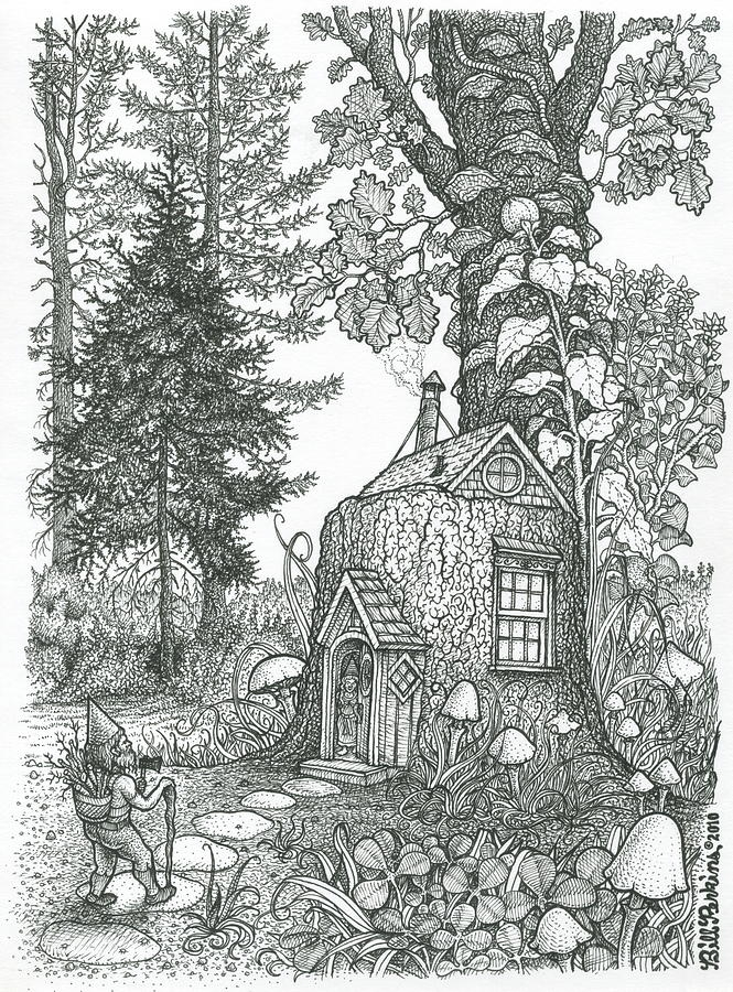 forest coloring pages - stumptown lodgings bill perkins