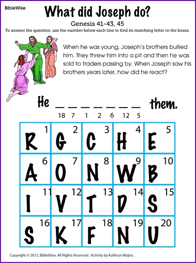 forgiveness coloring pages - what did joseph
